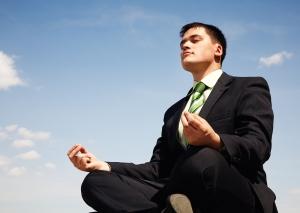 Man experiencing good work life balance