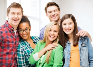 Group of diverse Millennials are happy