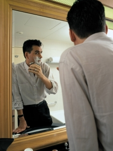 A man getting ready for interviews with employment agencies