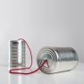 Two cans with string between them illustrating effective communication