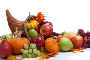 Cornucopia symbolizing thanks and employee retention