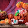 Several jack-o-lanterns as some Halloween party ideas