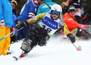 Paralympics sit skier, Kimberly Joines