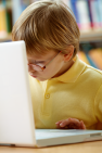 A child at a laptop signifying professional development