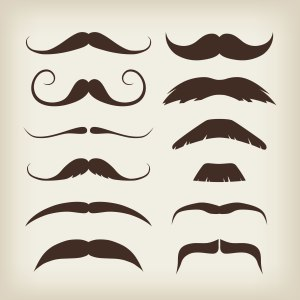 Various styles of moustaches