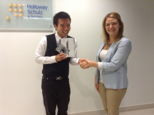 Johnny Wu accepts his New Year, New You award