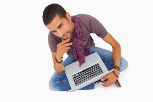 A job seeker thinking about a job description