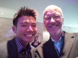 Johnny with Ken Graham, Director of Training and Professional Services, Adecco Canada