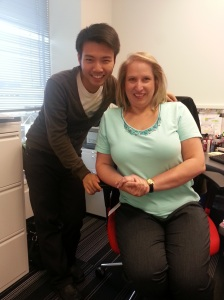 Johnny Wu with Marylynn Dalgety, Adecco Canada's Collections Manager