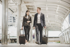 Businessman and woman are going on a business trip: How to get a job in Canada