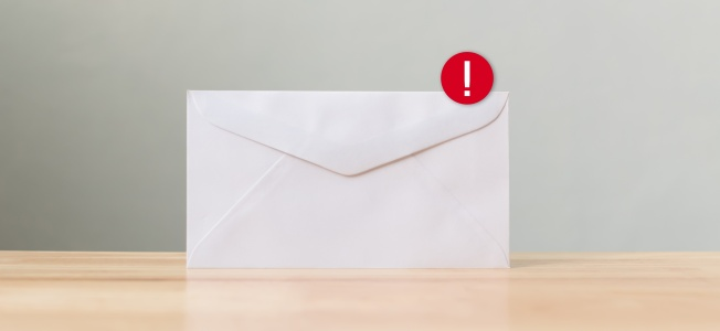Envelope with new notification icon