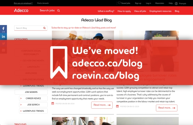 New Adecco blog website